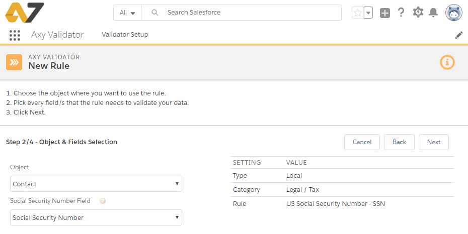 Axy Validator step2